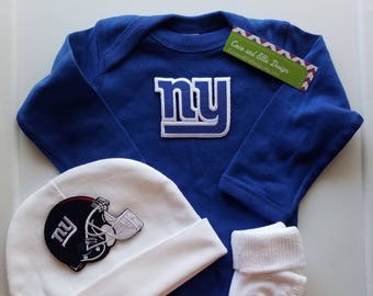 e6ef284f4 New York giants baby outfit/ ny giants baby/ ny giants newborn/ newborn ny  giants/ ny giants baby shower gift/ ny giants take home