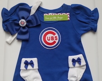 chicago cubs baby girl outfit Chicago cubs baby shower chicago cubs girl  take home chicago cubs baby girl cubs gender reveal cubs baby girl 2711bdb04
