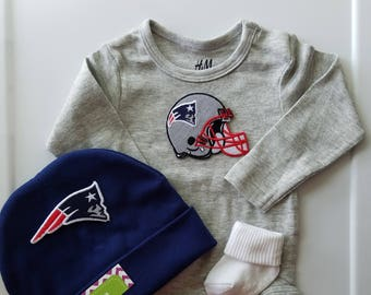 New England Patriots baby boy outfit  patriots baby boy  patriots baby  shower gift  patriots take home  patriots baby gift 21796b733