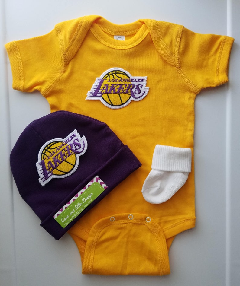 La Lakers baby outfit lakers baby boy lakers newborn  21f670c01