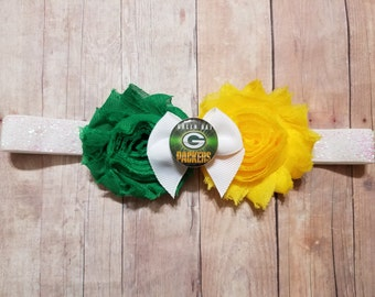Green Bay packers headband-packers headband-bay headband-packers headband for baby-green bay packers baby gift/packers baby gift