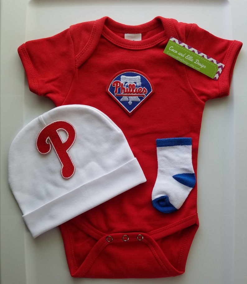 half off e2301 f965c Philadelphia Phillies baby outfit/Phillies baby boy/Phillies take  home/Phillies baby shower/Phillies baby gift/phillies newborn