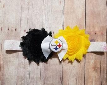 pittsburgh Steelers headband-baby girl pittsburgh steelers-steelers for baby-pittsburgh steelers headband for toddler-steelers headband