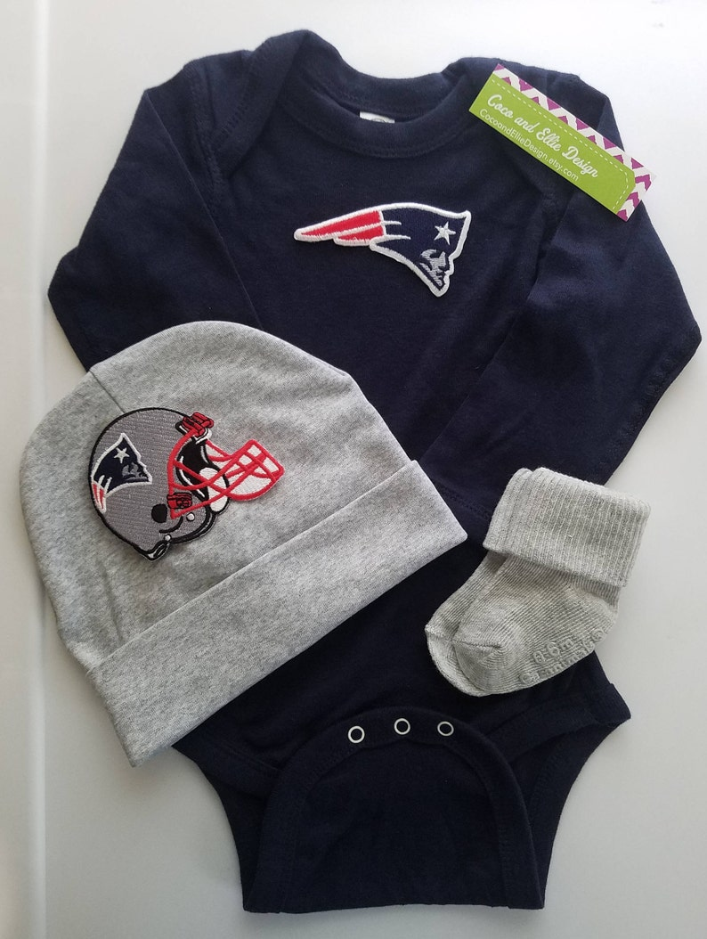 572f021e0 New England Patriots baby outfit/patriots baby shower/patriots | Etsy
