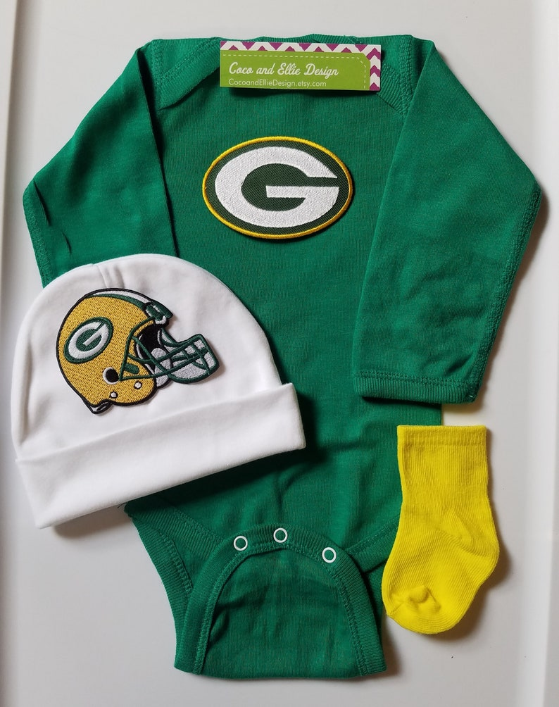 Green Bay Packers Baby Boy Outfit Packers Baby Shower Etsy