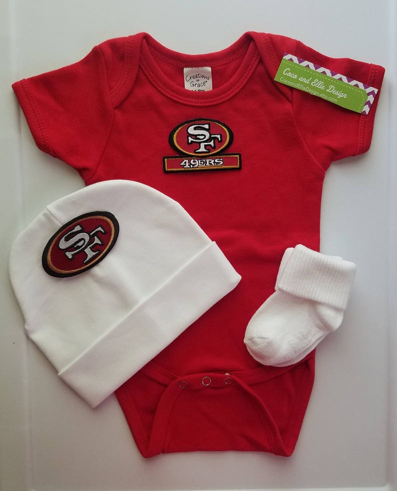 985bc715 san francisco 49ers baby boy outfit/ 49ers newborn/ 49ers baby/ 49ers baby  shower gift/ 49ers take home/49ers coming home/ 49ers baby gift
