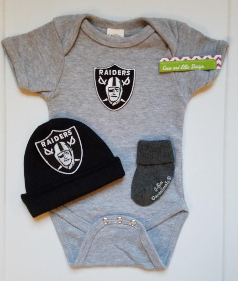 ff7fe1490 Oakland Raiders baby boy outfit/Raiders baby/Raiders newborn/   Etsy