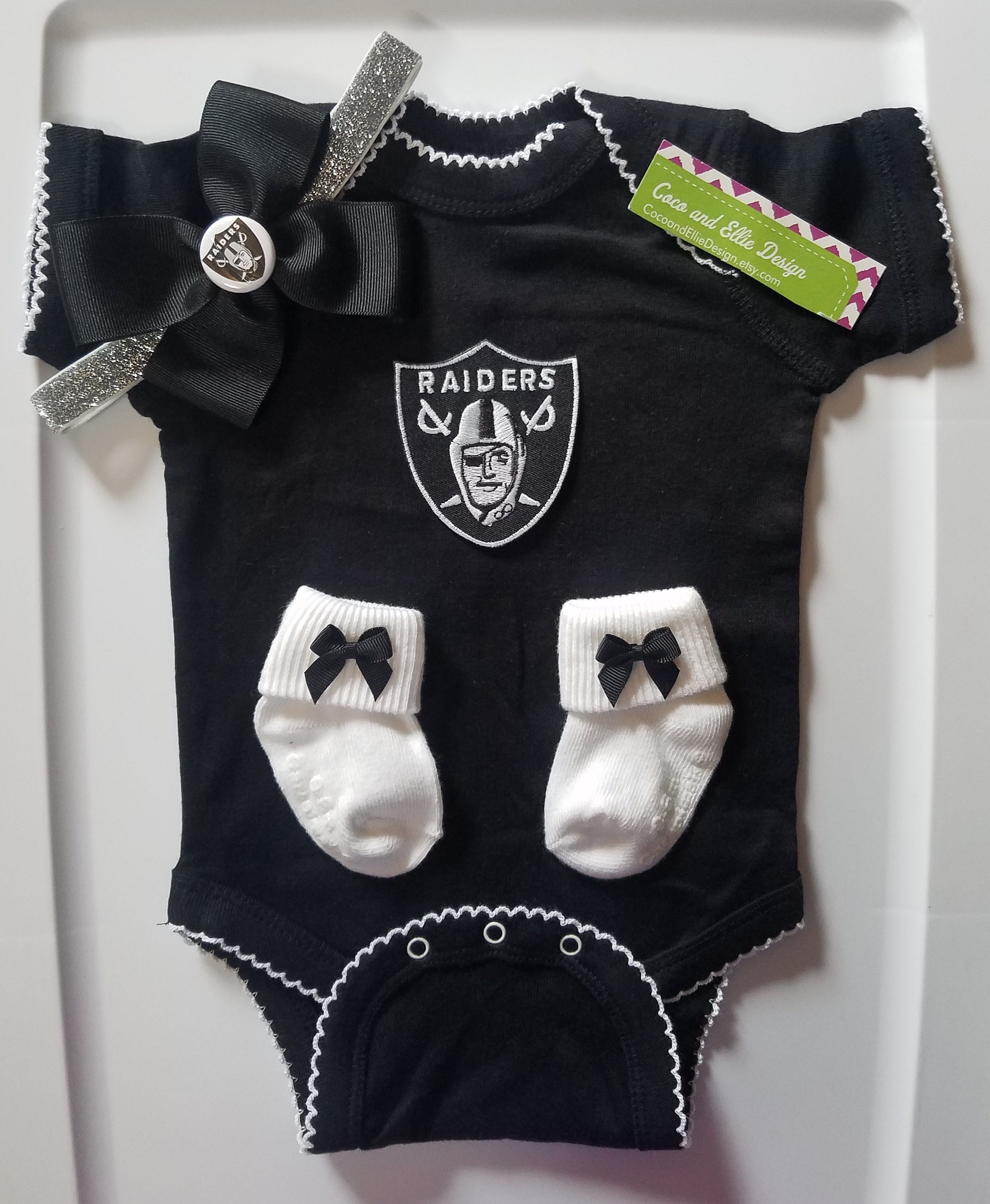 cb94091f9 Oakland Raiders baby girl outfit-Raiders baby girl   Etsy