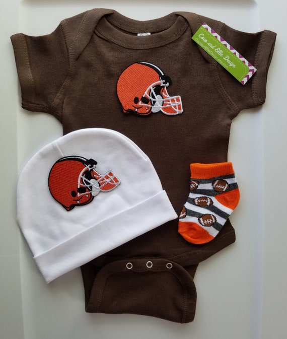 reputable site 8ce77 3e9b0 Cleveland Browns baby outfit/ Browns baby shower/ browns baby- browns  toddler boy/browns newborn/browns take home/browns baby gift