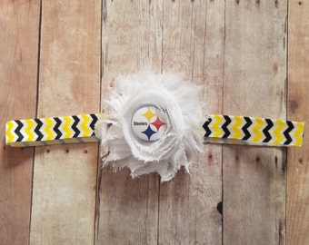 Steelers headband-baby girl steelers headband-pittsburgh steelers headband-steelers baby headband-steelers infant headband-steelers game day