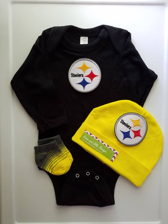 b56fcc90d Pittsburgh Steelers baby outfit-Steelers baby boy shower