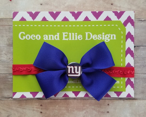 new york giants headband ny giants girl new york giants  217ce5fc8