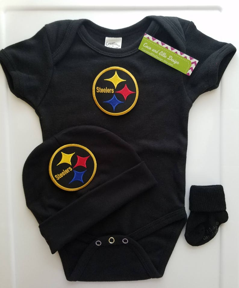 93293b4d8 Pittsburgh Steelers baby outfit-Steelers baby shower  Steelers
