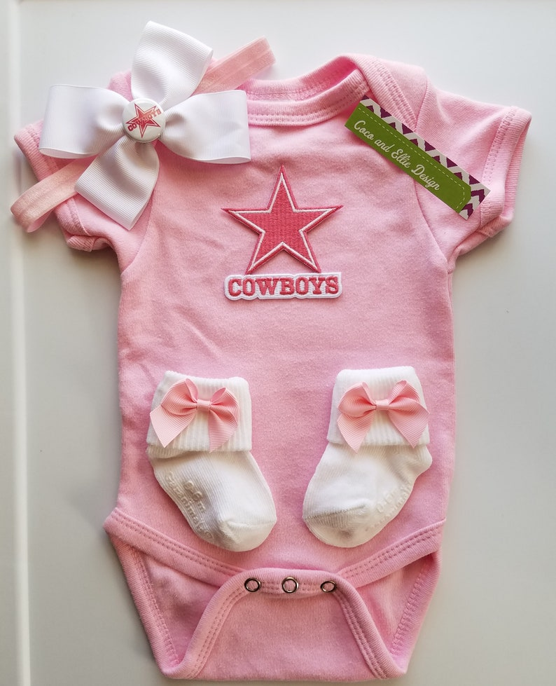 cb1273995 dallas cowboys baby girl outfit  pink dallas cowboys  dallas cowboy baby  shower ... dallas cowboys baby girl outfit  pink dallas cowboys  dallas  cowboy baby ...