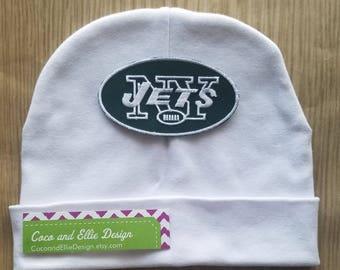 NY jets beanie/baby ny jets hat/ny jets baby hat/ny jets baby gift/ny jets cap/baby ny jets beanie