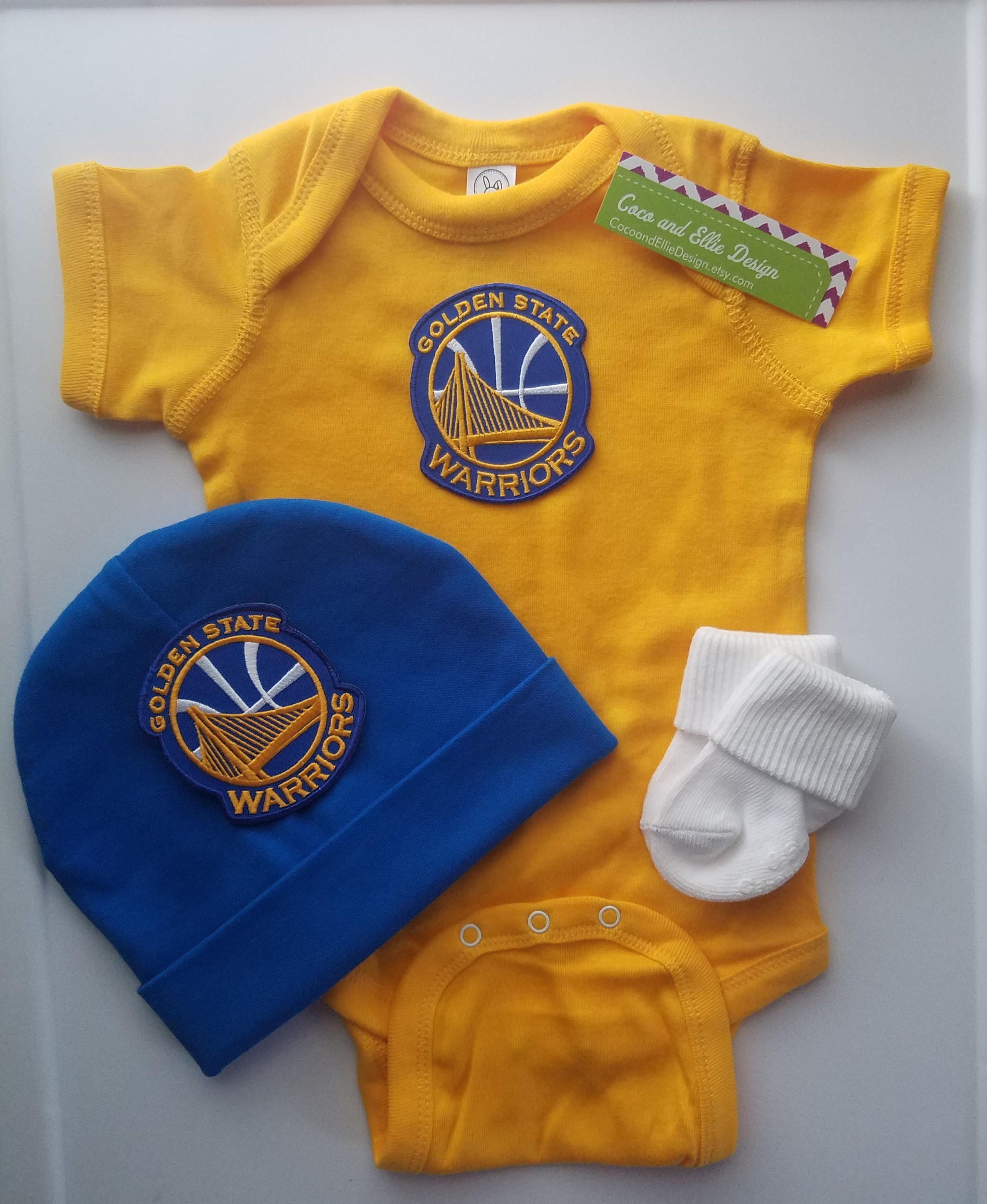 Golden state warriors baby outfit golden state baby golden