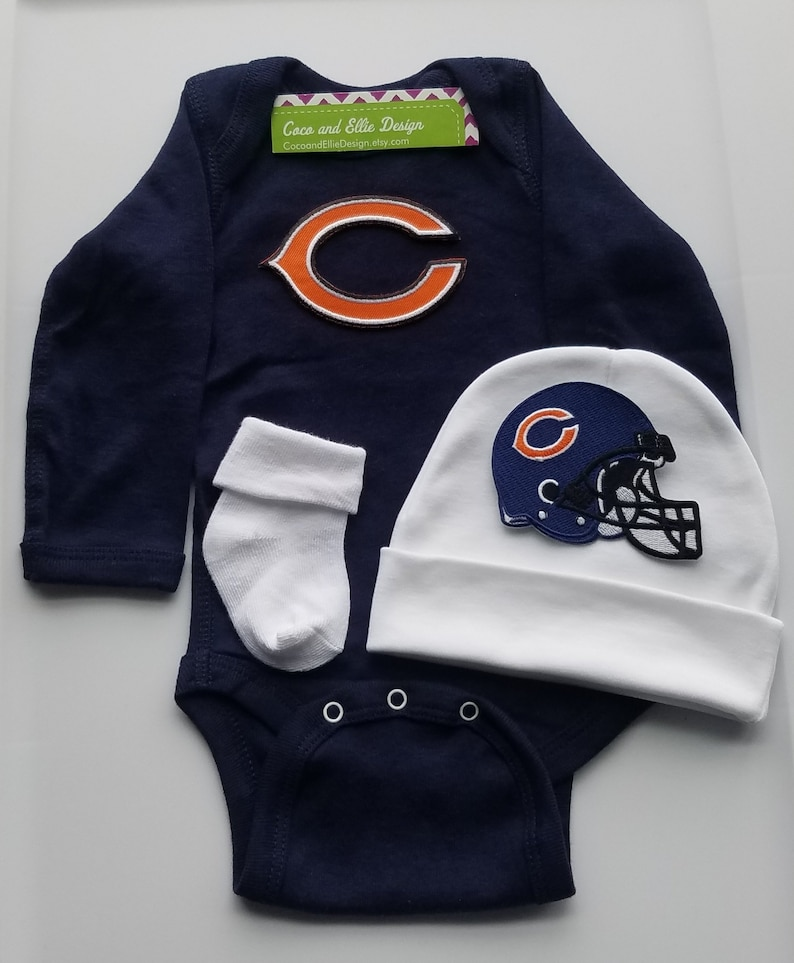 e4d42227 chicago bears baby boy outfit/chicago bears baby/chicago bears baby shower/  bears baby/chicago bears newborn/ bears baby gift/bears baby boy