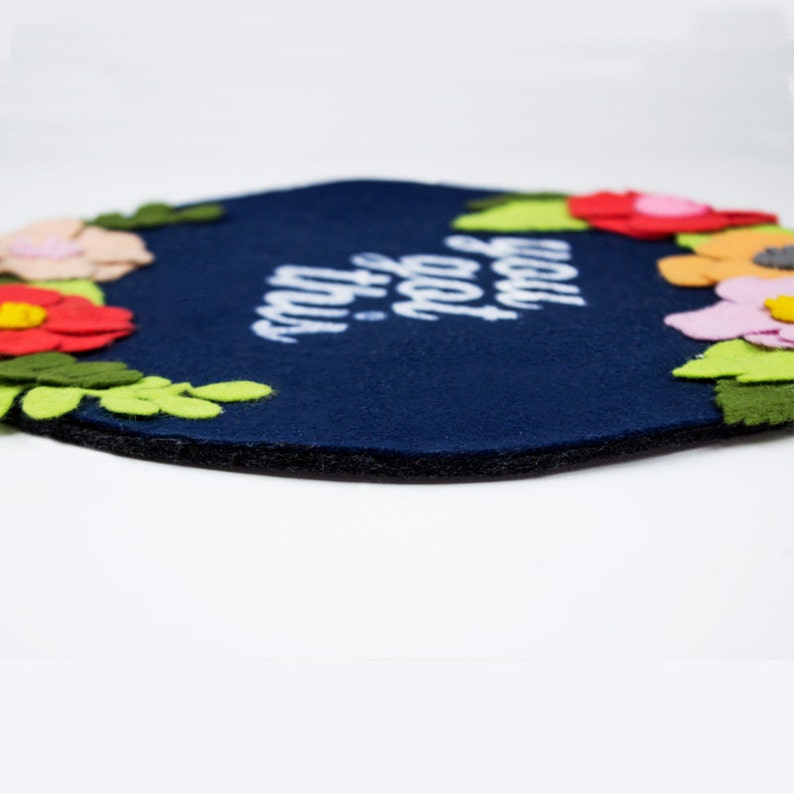 Office Decor Coworker gift You Got This Motivational Quote Mousepad Custom Mousepad Floral Felt Mouse Pad 10 Round Mousepad
