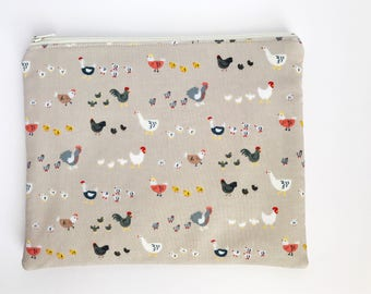 zipper pouch, cosmetic clutch, makeup bag, travel bag, accessory pouch, bag, zippered bag, gift, tablet case