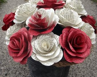 Alice In Wonderland Book Page Flowers, Literary Roses