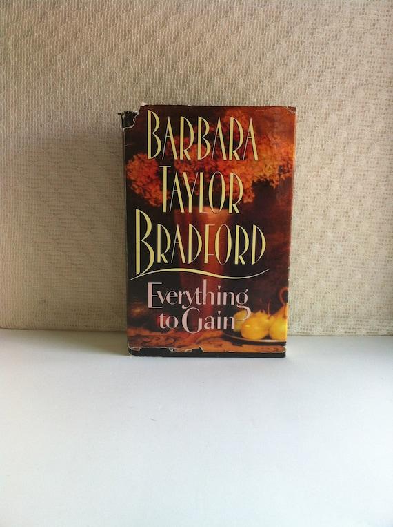 Destashing Book Everything To Gain Barbara Taylor Bradford Big Etsy