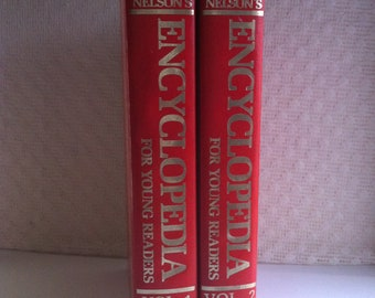 Nelson's Encyclopedia For Young Readers Volumes 1 and 2 Copyright 1980 Excellent Used Condition Hardback Books