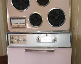 Vintage Pink Appliances - GE - Whirlpool - Wall Oven, Range, Dishwasher - lot of 3