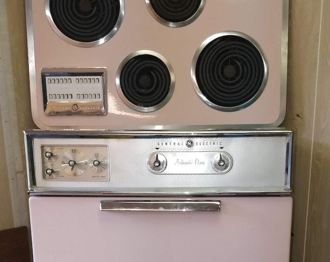 Vintage Pink Appliances - GE - Whirlpool - Wall Oven, Range, Dishwasher - lot of 3