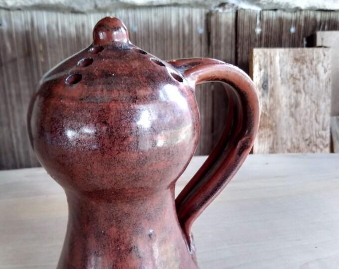 Mid Century Cheese Shaker - Signed EIINS - Stoneware Studio Pottery - Danish Modern