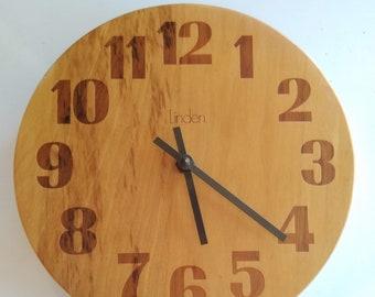 "Vintage Mid Century Linden Wall Clock - 10"""