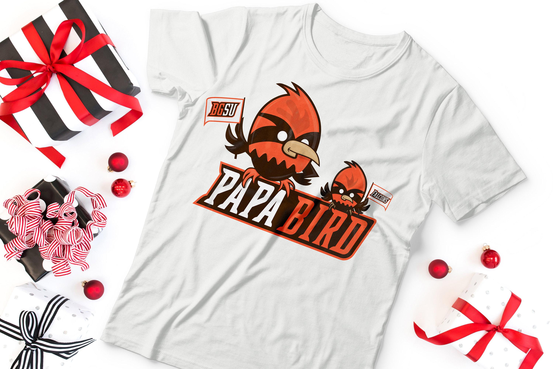 Bgsu Falcons Papa Bird Short Sleeve Unisex T Shirt Bg Gift Etsy