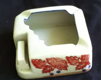 Vintage Ashtray from the 1940's with Matchbook Holder