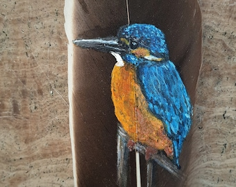 Kingfisher Feather Painting