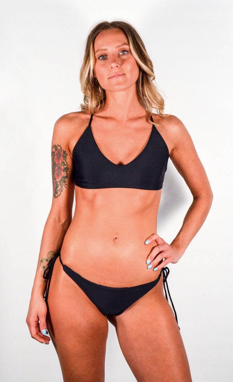 cd9cc89c471dce Black Sport Bikini Top | Etsy