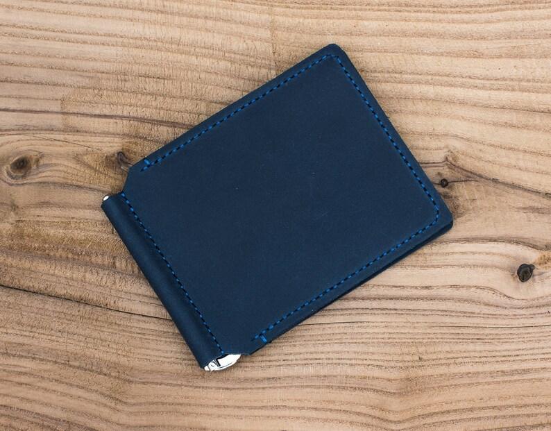 def5a112d6a05 Money clip wallets for men leather money clip mens leather