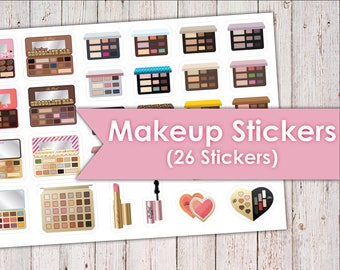 Makeup Palette Planner Stickers   26+ Stickers