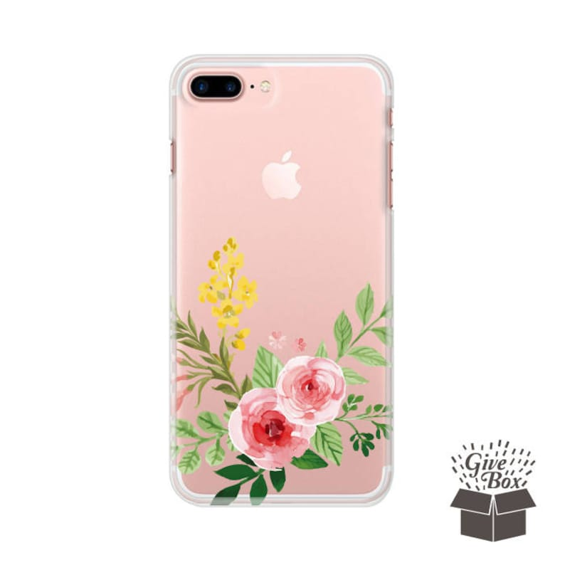 the latest 399ca 9fe6d Floral iPhone 7 Case Clear, iPhone 7 Plus Case Rose flowers, iPhone 6S Case  Flower, iPhone 6S Plus Case Floral, iPhone X case, iPhone 8 case