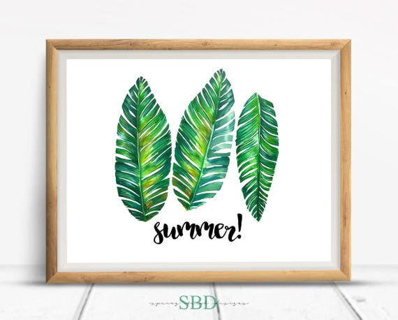 Summer Tropical Palm Leaves Quote Digital Design Poster Wall Etsy Tropical leaves ~ graphic patterns ~ creative market. etsy
