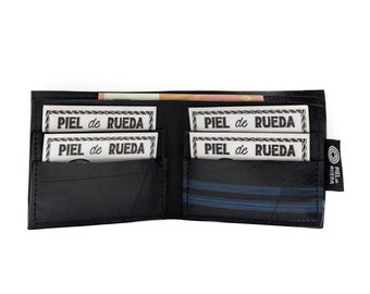 Man pocket wallet handmade with up cycled inner tube of truck