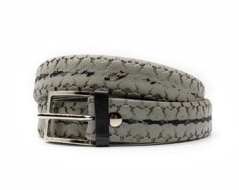 Upcycled bike tire belt for man and woman, recycled, vegan, handmade