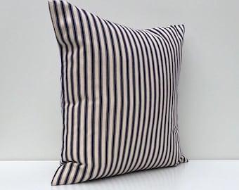 Anchor on Pinstripe Outdoor Pillow