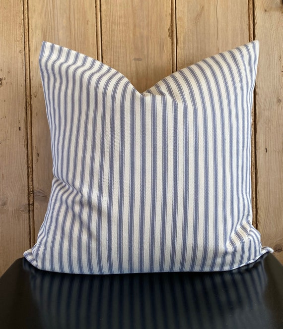 envelope pillow tutorial diy inspired.htm grey and cream striped ticking cushion cover etsy  cream striped ticking cushion cover