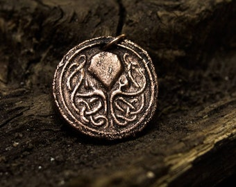 Cthulhu necklace, lovecraftian jewelry, electroforming jewelry, steampunk jewelry, copper pendant, octopus pendant, eldritch jewelry