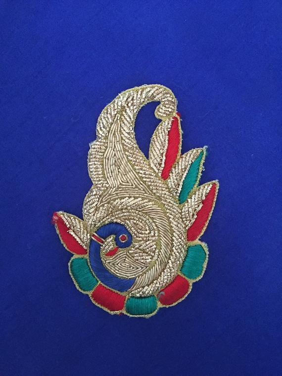 1 Pieza indio Diamonte zardosi Piedra Zari Apliques//estilo étnico indio Motif