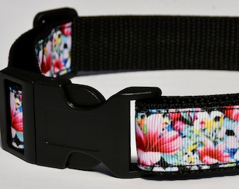 Floral Collar, Dog Collar, Cat Collar, Pet Collar, Flower Dog Collar, Flower Cat Collar, Flower Pet Collar, Floral Dog Collar