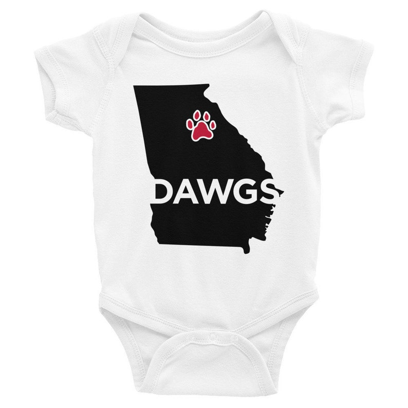 Georgia UGA Dawgs Infant Bodysuit Onesie, Short Sleeve, Long Sleeve, State,  Red, Black, College Team Infant Apparel