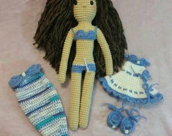 Jane Doll In Blue
