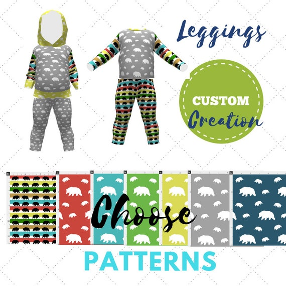 Custom Create - Baby / Toddler Leggings - Bear Camp Collection | Cute Twins, Triplets, Sibling Matching Clothing