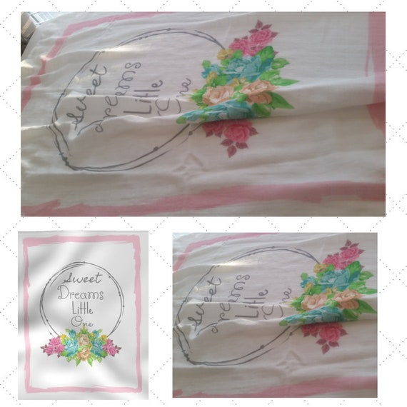 Sweet Dreams Little One Organic Gauze Newborn Swaddle- LARGE,  Baby Blanket | 1 layer Double Gauze - in stock READY to SHIP