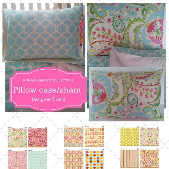 Pillow Case / Pillow Sham 12x16, 20x20, Twin - Kumari Garden Designer Fabric, Nursery Decor, Tropical, Moroccan Bedding, Shabby Chic